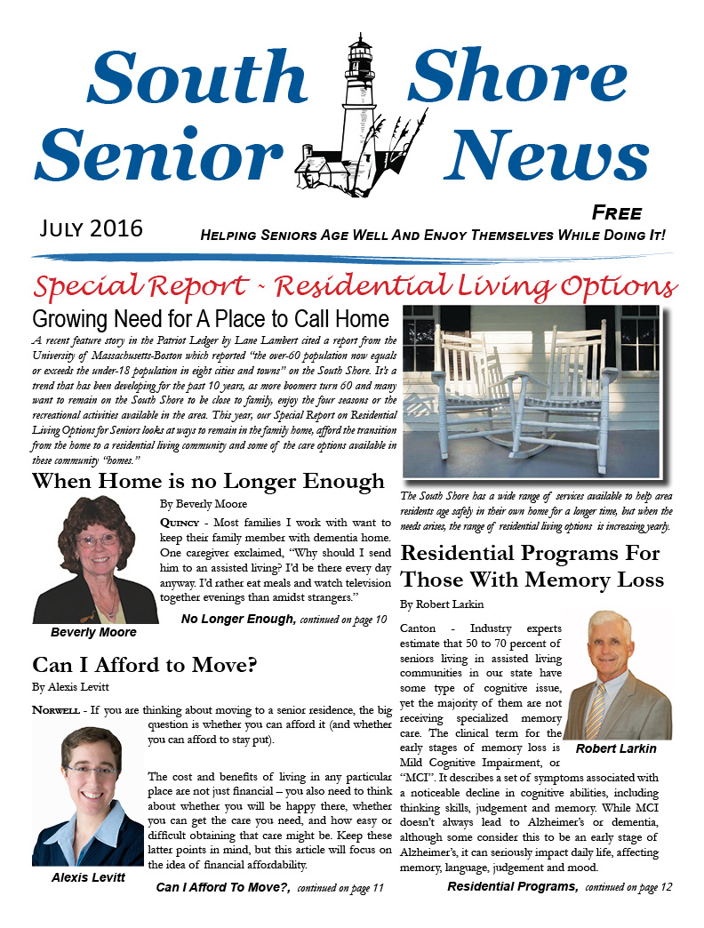 South Shore Senior News - July 2016 - Cover