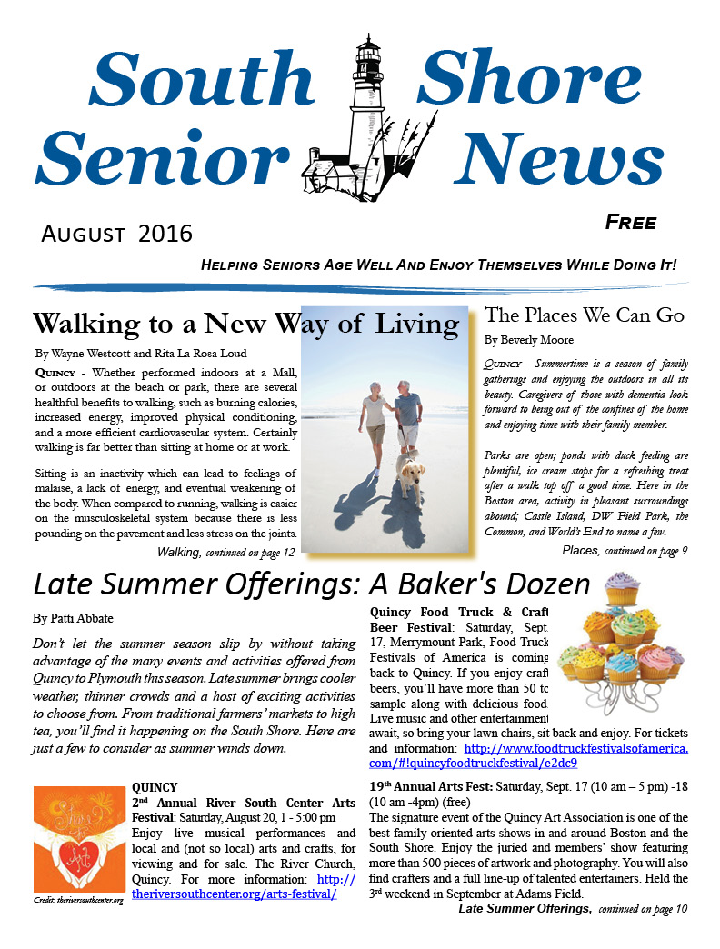South Shore Senior News - August 2016 - Cover
